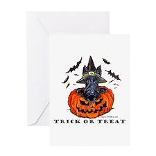 Scottie Witch Greeting Card