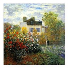 The Garden of Monet at Argenteuil Square Car Magne