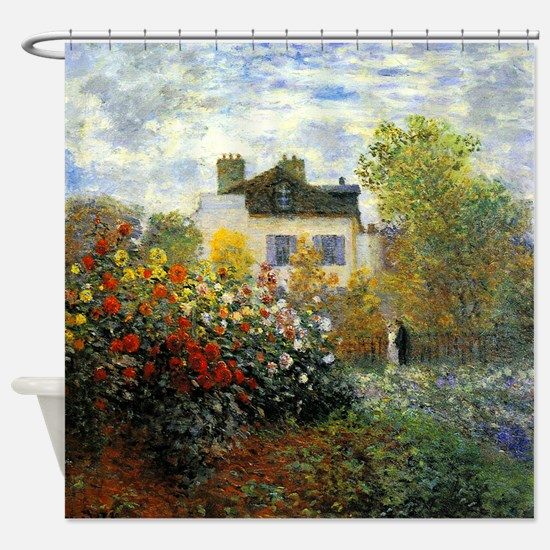 The Garden of Monet at Argenteuil Shower Curtain