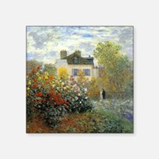 The Garden of Monet at Argenteuil Square Sticker 3