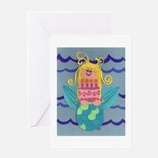 Birthday Mermaid Greeting Card