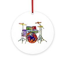 Wild Drums Ornament (Round)