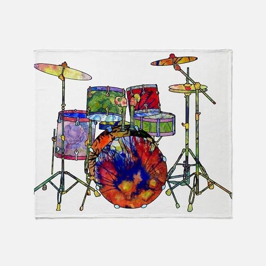 Wild Drums Throw Blanket