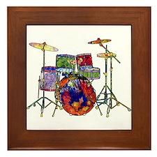 Wild Drums Framed Tile