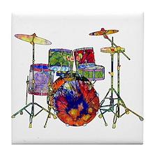 Wild Drums Tile Coaster