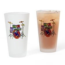 Wild Drums Drinking Glass