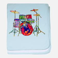 Wild Drums baby blanket