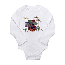 Wild Drums Long Sleeve Infant Bodysuit