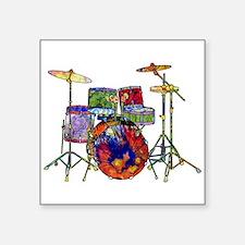 """Wild Drums Square Sticker 3"""" x 3"""""""