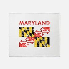 Flag of Maryland Throw Blanket