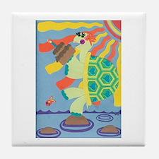 Birthday Turtle Tile Coaster