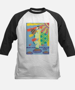 Birthday Turtle Kids Baseball Jersey