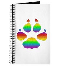 RAINBOW STRIPED BEAR PAW Journal