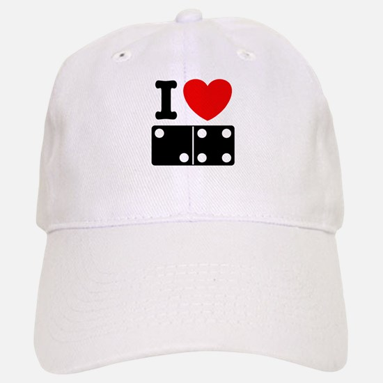 I Love Dominoes Baseball Baseball Cap
