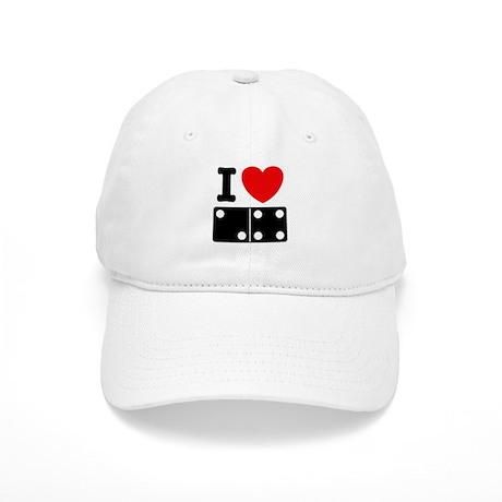 I Love Dominoes Cap