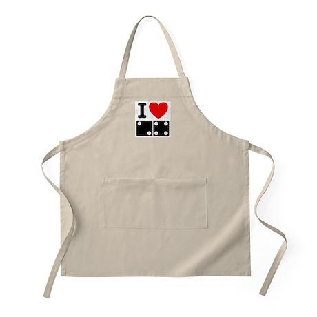 I Love Dominoes BBQ Apron