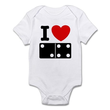 I Love Dominoes Infant Creeper