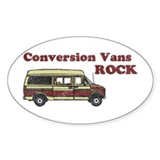 Conversion Vans Rock Oval Decal