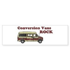 Conversion Vans Rock Bumper Bumper Sticker