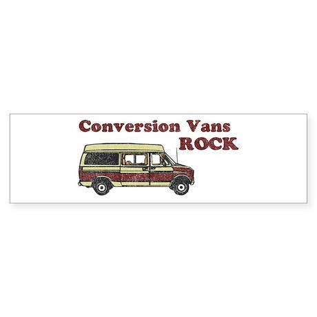 Conversion Vans Rock Bumper Sticker