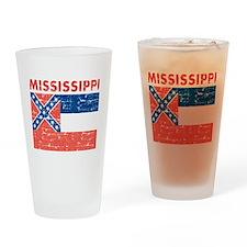 Flag of Mississippi Drinking Glass