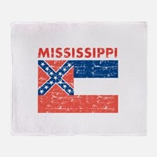 Flag of Mississippi Throw Blanket