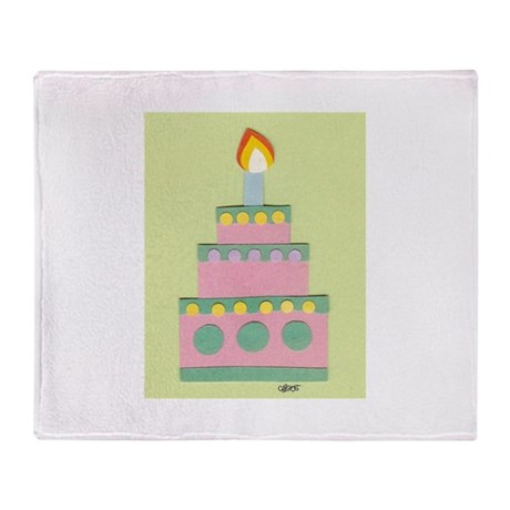 Mini Pink Cake Throw Blanket