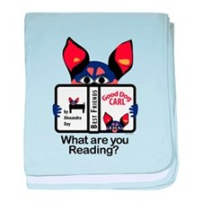 Reading Dog baby blanket