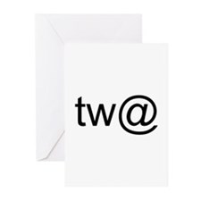 Tw@ (twat) Greeting Cards (Pk of 10)