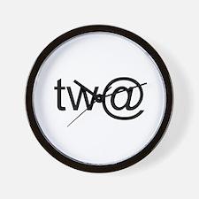 Tw@ (twat) Wall Clock