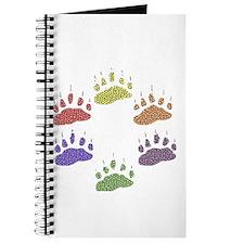 6 RAINBOW BEAR PAWS Journal
