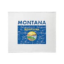 Flag of Montana Throw Blanket