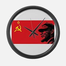 Lenin Soviet Flag Large Wall Clock