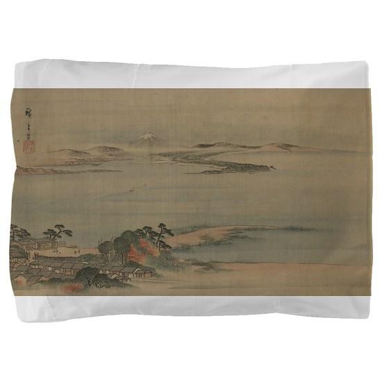 Fukeiga 19 - Hiroshige Ando - 1890 Pillow Sham