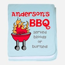 Personalized BBQ baby blanket