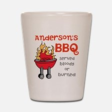 Personalized BBQ Shot Glass