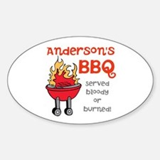 Personalized BBQ Decal