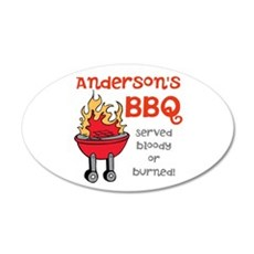 Personalized BBQ Wall Decal