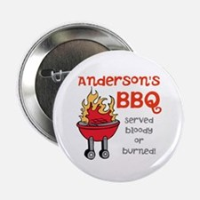 """Personalized BBQ 2.25"""" Button"""