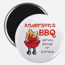 """Personalized BBQ 2.25"""" Magnet (10 pack)"""