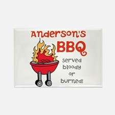 Personalized BBQ Rectangle Magnet (10 pack)