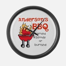 Personalized BBQ Large Wall Clock