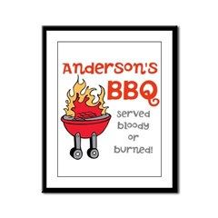 Personalized BBQ Framed Panel Print