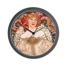Alphonse Mucha Reverie Wall Clock