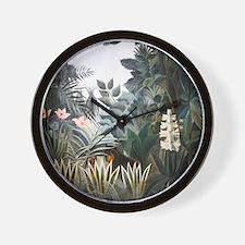 Henri Rousseau Rain Forest Wall Clock