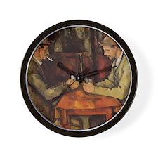 Paul Cezanne Card Players Wall Clock