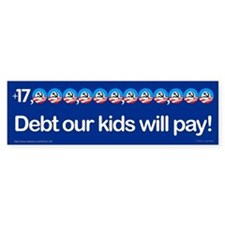 +$17,000,000,000,000 debt bumper sticker