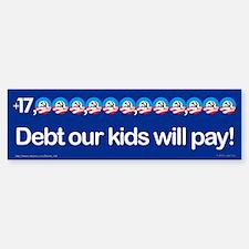 +$17,000,000,000,000 debt bumper sticker
