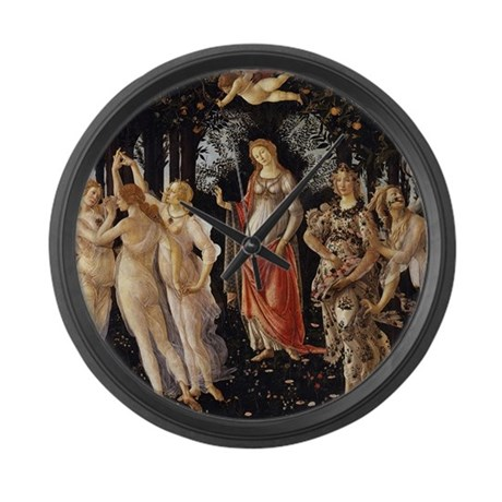 Sandro Botticelli Primavera Large Wall Clock