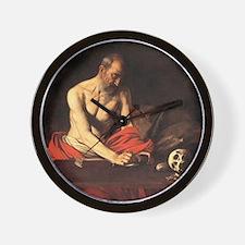 Caravaggio St Jerome Wall Clock